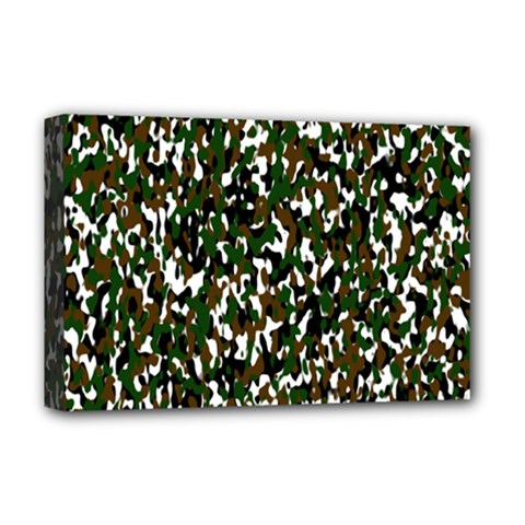Camouflaged Seamless Pattern Abstract Deluxe Canvas 18  x 12