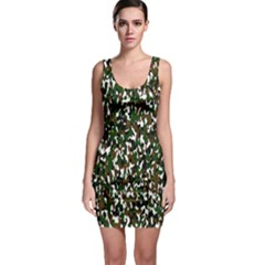Camouflaged Seamless Pattern Abstract Sleeveless Bodycon Dress