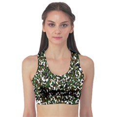 Camouflaged Seamless Pattern Abstract Sports Bra