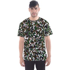 Camouflaged Seamless Pattern Abstract Men s Sport Mesh Tee
