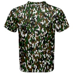 Camouflaged Seamless Pattern Abstract Men s Cotton Tee