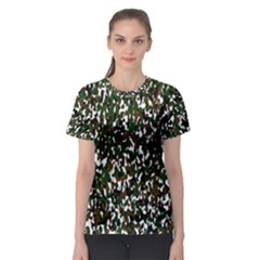 Camouflaged Seamless Pattern Abstract Women s Sport Mesh Tee