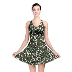 Camouflaged Seamless Pattern Abstract Reversible Skater Dress