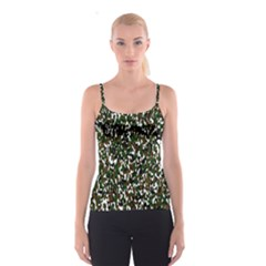 Camouflaged Seamless Pattern Abstract Spaghetti Strap Top