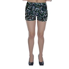 Camouflaged Seamless Pattern Abstract Skinny Shorts
