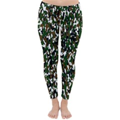 Camouflaged Seamless Pattern Abstract Classic Winter Leggings