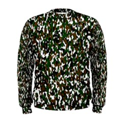 Camouflaged Seamless Pattern Abstract Men s Sweatshirt