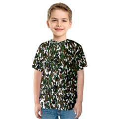 Camouflaged Seamless Pattern Abstract Kids  Sport Mesh Tee