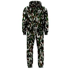 Camouflaged Seamless Pattern Abstract Hooded Jumpsuit (Men)