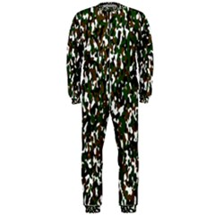 Camouflaged Seamless Pattern Abstract OnePiece Jumpsuit (Men)