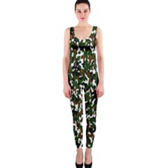 Camouflaged Seamless Pattern Abstract Onepiece Catsuit