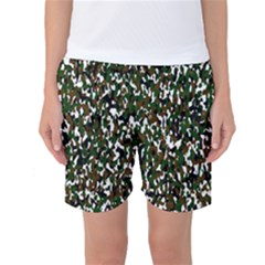 Camouflaged Seamless Pattern Abstract Women s Basketball Shorts
