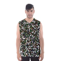 Camouflaged Seamless Pattern Abstract Men s Basketball Tank Top