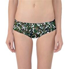 Camouflaged Seamless Pattern Abstract Classic Bikini Bottoms