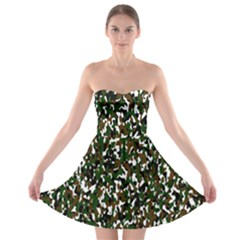 Camouflaged Seamless Pattern Abstract Strapless Bra Top Dress