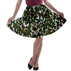 Camouflaged Seamless Pattern Abstract A-line Skater Skirt