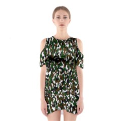 Camouflaged Seamless Pattern Abstract Shoulder Cutout One Piece
