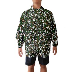 Camouflaged Seamless Pattern Abstract Wind Breaker (Kids)