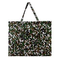 Camouflaged Seamless Pattern Abstract Zipper Large Tote Bag