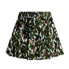Camouflaged Seamless Pattern Abstract Mini Flare Skirt