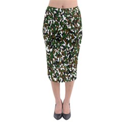 Camouflaged Seamless Pattern Abstract Midi Pencil Skirt