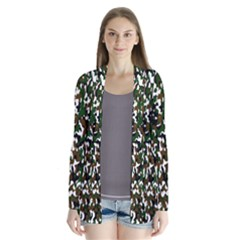 Camouflaged Seamless Pattern Abstract Cardigans