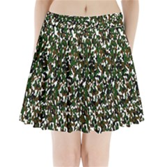 Camouflaged Seamless Pattern Abstract Pleated Mini Skirt