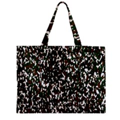 Camouflaged Seamless Pattern Abstract Medium Zipper Tote Bag