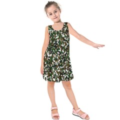 Camouflaged Seamless Pattern Abstract Kids  Sleeveless Dress