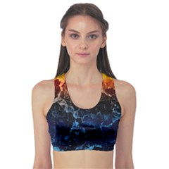 Abstract Background Sports Bra