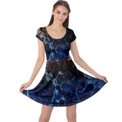 Abstract Background Cap Sleeve Dresses