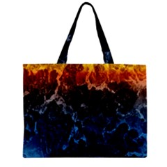 Abstract Background Zipper Mini Tote Bag
