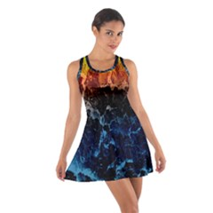 Abstract Background Cotton Racerback Dress