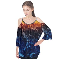 Abstract Background Flutter Tees