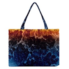 Abstract Background Medium Zipper Tote Bag