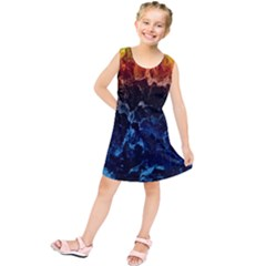 Abstract Background Kids  Tunic Dress