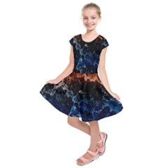 Abstract Background Kids  Short Sleeve Dress