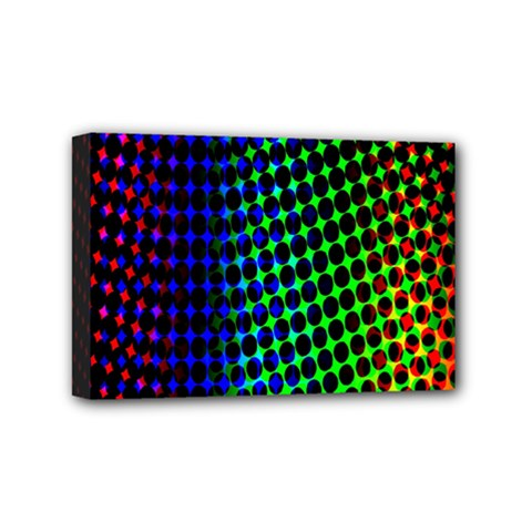 Digitally Created Halftone Dots Abstract Background Design Mini Canvas 6  X 4