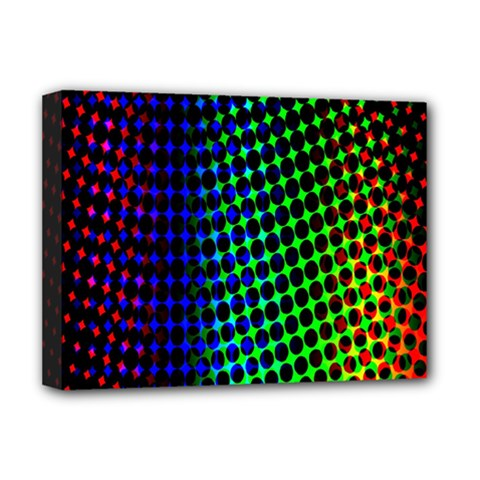 Digitally Created Halftone Dots Abstract Background Design Deluxe Canvas 16  x 12