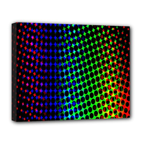 Digitally Created Halftone Dots Abstract Background Design Deluxe Canvas 20  x 16