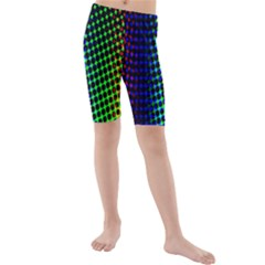 Digitally Created Halftone Dots Abstract Background Design Kids  Mid Length Swim Shorts