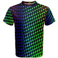 Digitally Created Halftone Dots Abstract Background Design Men s Cotton Tee