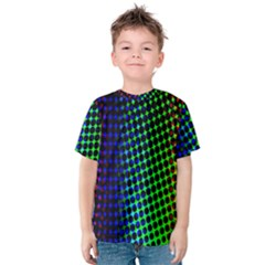 Digitally Created Halftone Dots Abstract Background Design Kids  Cotton Tee