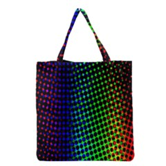 Digitally Created Halftone Dots Abstract Background Design Grocery Tote Bag