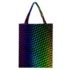 Digitally Created Halftone Dots Abstract Background Design Classic Tote Bag