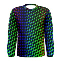 Digitally Created Halftone Dots Abstract Background Design Men s Long Sleeve Tee