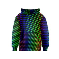 Digitally Created Halftone Dots Abstract Background Design Kids  Pullover Hoodie