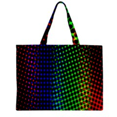 Digitally Created Halftone Dots Abstract Background Design Zipper Mini Tote Bag
