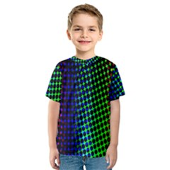 Digitally Created Halftone Dots Abstract Background Design Kids  Sport Mesh Tee