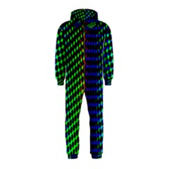 Digitally Created Halftone Dots Abstract Background Design Hooded Jumpsuit (kids)